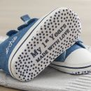 Personalised Chambray High Top Trainers Sole