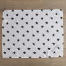 Personalized Pack of 3 Monochrome Star Print Muslin Swaddle Blankets