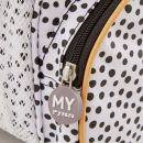 Personalised Black and White Polka Dot Backpack