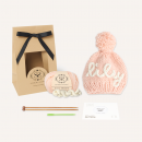 Personalise Your Own Stitch & Story Light Pink Bobble Hat Knitting Kit