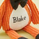 Personalized Mr Fox Textured Stuffed Animal Personalization