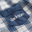 Personalized Traditional Navy Check Pajamas Personalization