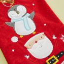 Personalised Small Fur Top Santa & Penguin Stocking Detail