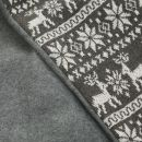 Personalised Grey Fairisle Christmas Sack Detail