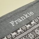 Personalised Grey Fairisle Christmas Sack Personalisation