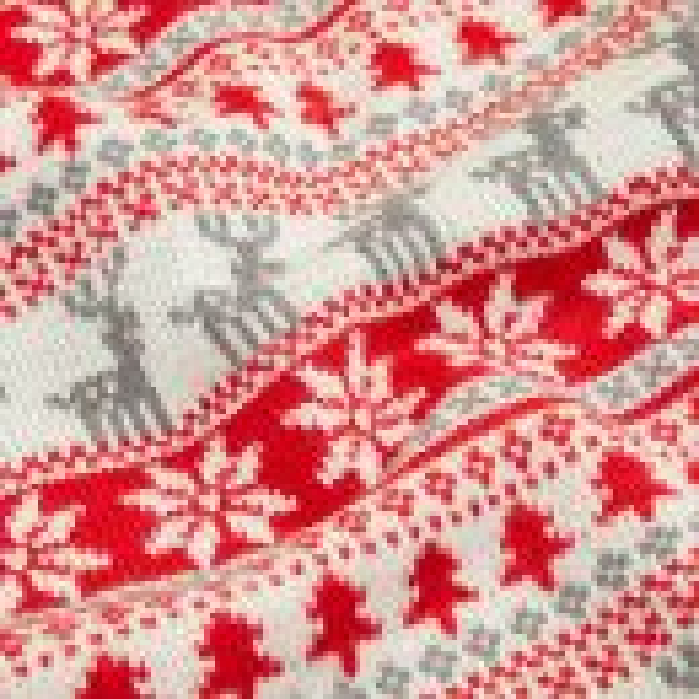 Personalised Red Fairisle Christmas Sack Detail