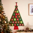 Personalised Hanging Christmas Tree Advent Calendar Styled