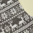 Personalized Gray Fairisle Stocking Detail