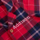 Personalised Red Checkered Pyjama Romper