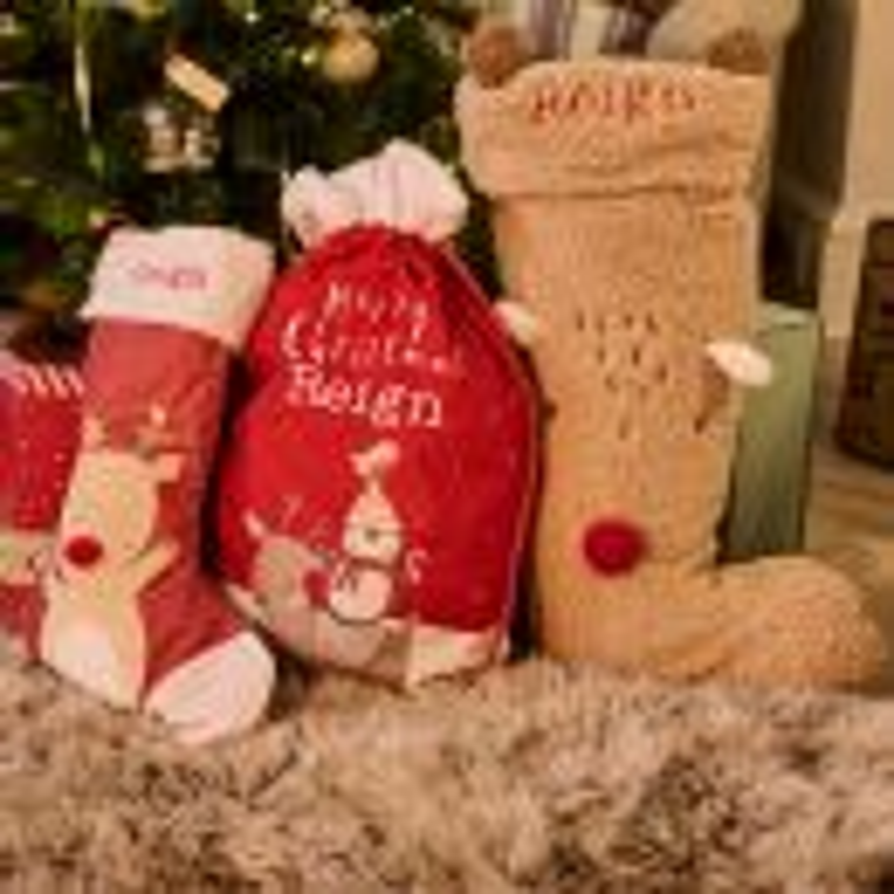 Personalised Large Reindeer Christmas Stocking