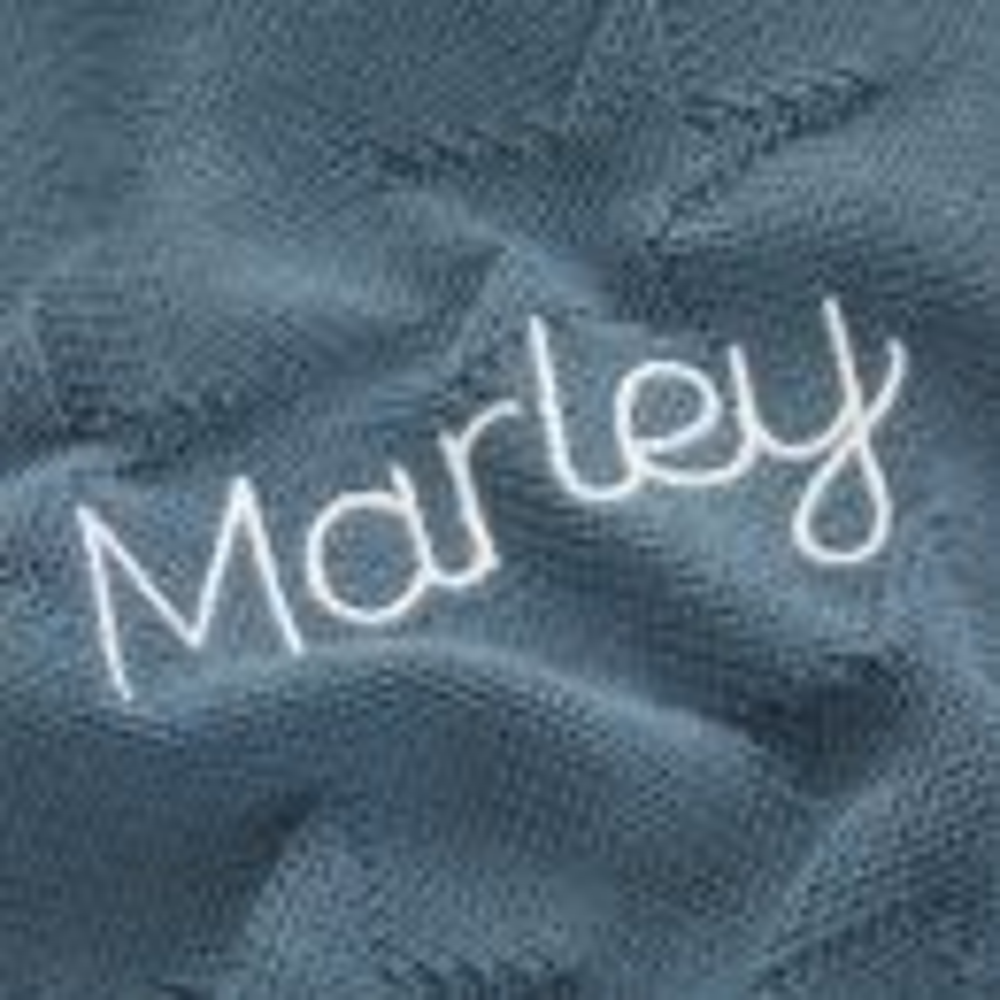 Personalised Blue Star Jacquard Blanket - Personalisation