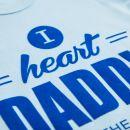 Blue Slogan Bodysuit - I Heart Daddy Print